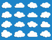 Collection of vector clouds — Vettoriale Stock