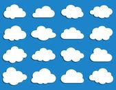 Raccolta di nuvole vettoriali — Vettoriale Stock