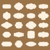 レトロなフレームのベクトル コレクション — ストックベクタ