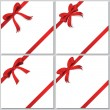 Collection of beautiful red bows — Imagens vectoriais em stock