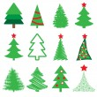 图库矢量图片: Collection of vector spruce
