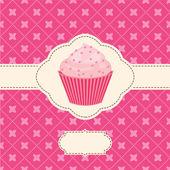 Uitnodiging voor vector met capcake — Stockvector