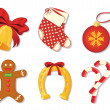 Collection of vector christmas symbols — Stock Vector
