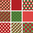 Collection of vector christmas backgrounds — Stok Vektör