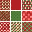 Collection of vector christmas backgrounds - Stock Vector