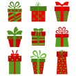 Collection of vector present boxes -  