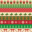 Collection of vector christmas ornaments — Vector de stock #13075231