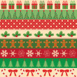 Collection of vector christmas ornaments — Image vectorielle
