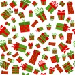 Seamless vector background with present boxes - Stock vektor