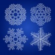 Set of vector snowflakes — Stock vektor