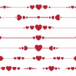 Collection of vector valentine monograms with hearts — Stock Vector
