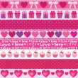 Collection of vector valentine's ornaments — Stock Vector