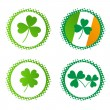 Vector collection of st. Patric's badges — Stockvektor