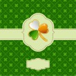 Saint Patrick's day frame — 图库矢量图片