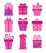 Collection of vector present boxes — Stock Vector
