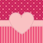 Vector valentine's frame — Stock Vector