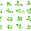 Set of green eco elements -  