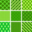 Collection of vector seamless backgrounds — Imagens vectoriais em stock