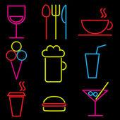 Icone cibo — Vettoriale Stock