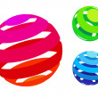 Vector colorful sphere icons - Stok Vektör