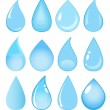 Collection of vector water drops - Stok Vektör
