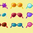 Vector set of sunglasses - Stok Vektör