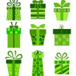 Collection of vector present boxes — Image vectorielle