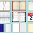 Collection of vector notebooks - Image vectorielle