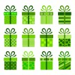 Collection of vector present boxes - Image vectorielle