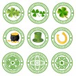 Collection of vector st. patrick's logos - Stok Vektör
