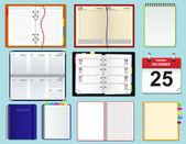 Colección de cuadernos de vector — Vector de stock