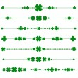 Collection of vector st. patrick's monograms with shamrock - Imagen vectorial