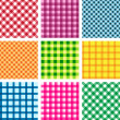 Vector seamless patterns — Stok Vektör