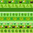 Collection of vector st. patrick's ornaments - Imagens vectoriais em stock