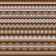 Set of Lace Ribbons - for design and scrapboo - Imagens vectoriais em stock