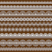 Set of Lace Ribbons - for design and scrapboo — Stockvector