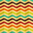 Vector seamless background with stripes in retro style - Image vectorielle