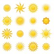 Set of sun. Vector - Stock vektor
