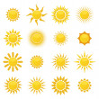 Stock Vector: Set of sun. Vector