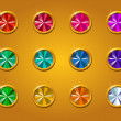 Set of different colored buttons -  