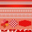 Red scrapbook set - Stockvektor