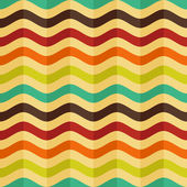Vector seamless background with stripes in retro style — Stockvector