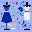 Vector collection of fashion clothes — 图库矢量图片 #28196259