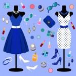 Vector collection of fashion clothes — Stock Vector