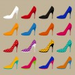 Collection of vector shoes — Stock Vector