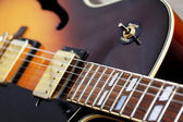 Close up of a jazz guitar — Stock Photo