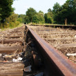 Close up of a railtrack — Stock Photo