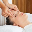 Female Receiving Head Massage At Spa — Stock Photo #12438276