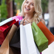 Stock Photo: Portrait of Happy Shopping Woman