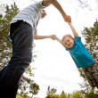 Father and Son Playing in Park — Stock Photo #12673215